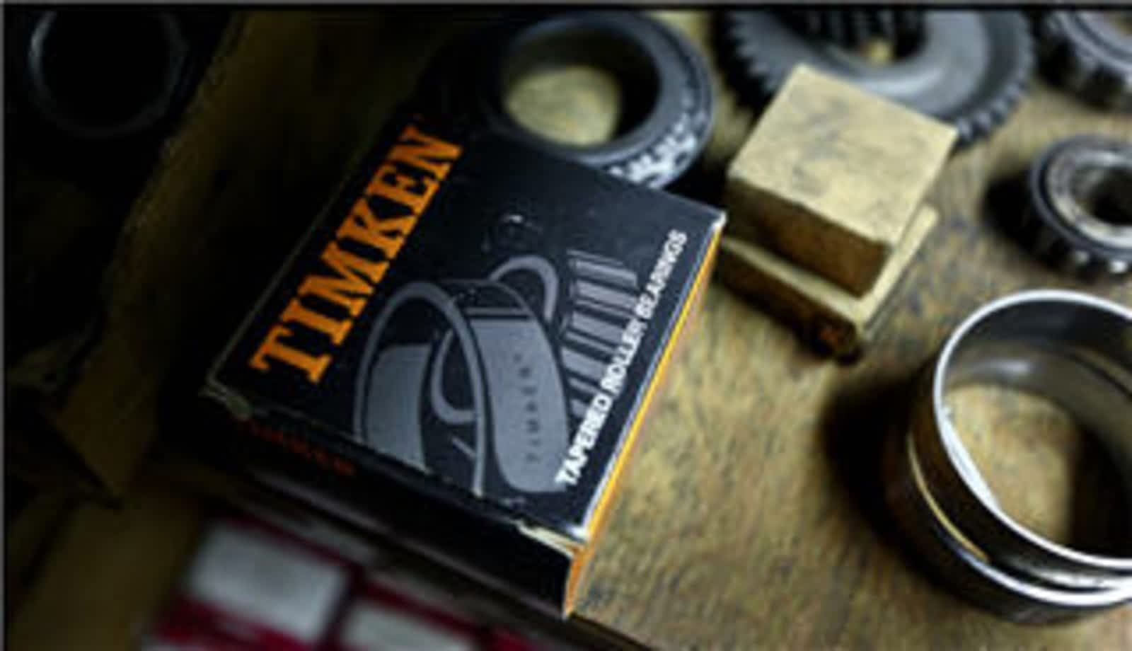 Timken auto parts on a table